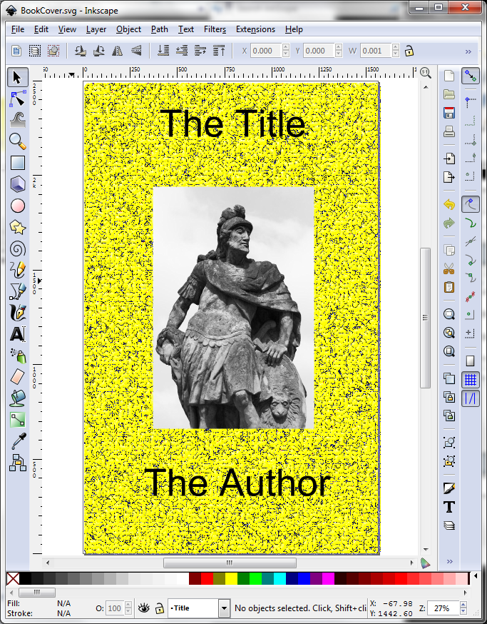 Inkscape eBook Cover with Background Texture